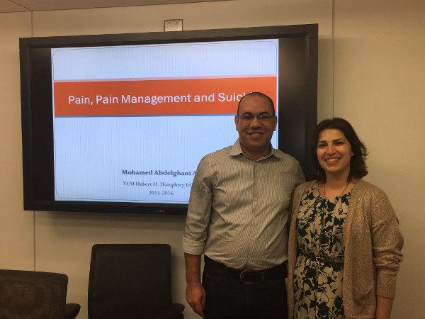 Dr. Mohamed Abdelghani Ali and Dr. Briana Mezuk
